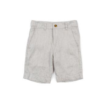 Shorts - Fine Tailoring Linnen Fog, Lys tåkegrå
