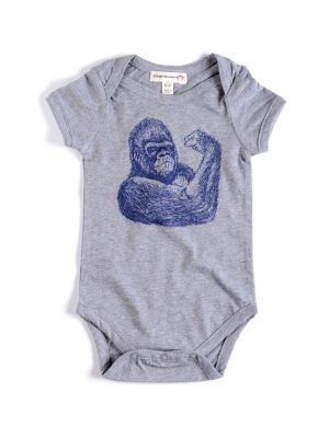 Body - Gorilla Onsie, Grey
