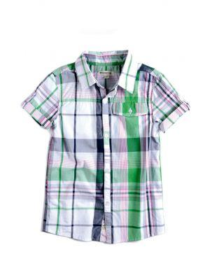 Kortermet skjorte - Harve shirt, grønnrutet