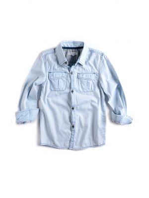 Jeansskjorte - Warren Shirt, lys blå
