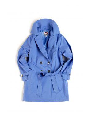Jakke - Trench Coat, Himmelblå