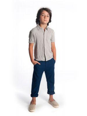 Kortermet skjorte - Beach Shirt, Lys grå