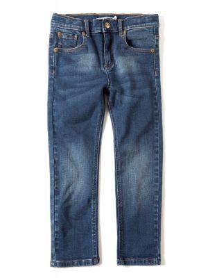 Bukser - Slim Leg Denim, blå