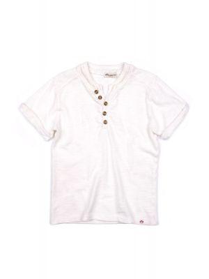 T-skjorte - Hilltop Henley, Hvit