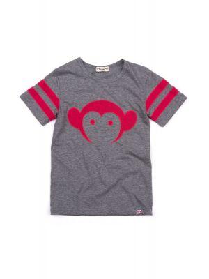 T-skjorte - Sandlot Logo Jersey, Grå & rød