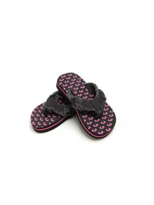 Flip-flops, svart&rosa