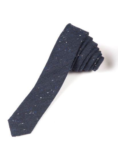 Slips - Navy Herringbone, Mørk blå melert