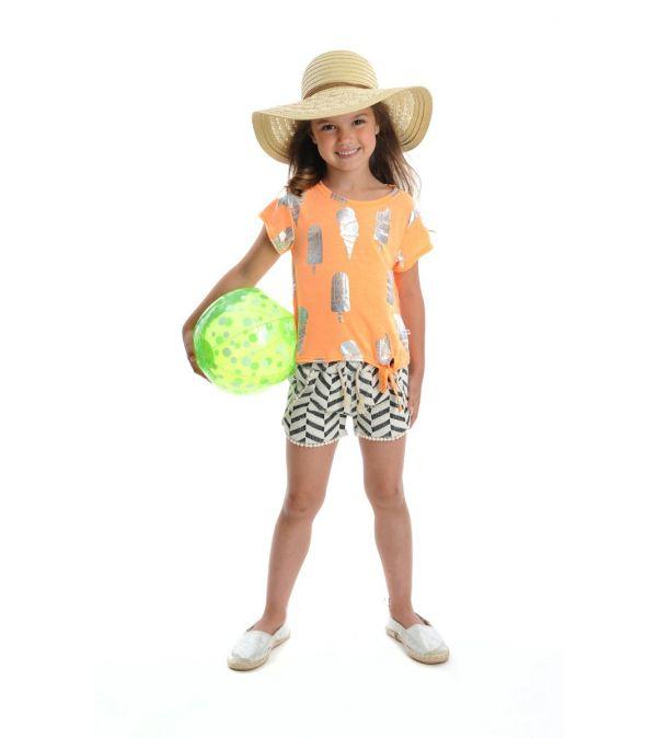 Shorts - Cabana Chevron, Sort & hvit