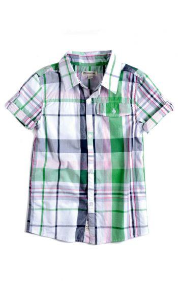 Kortermet skjorte - Harvey Shirt, grønnrutet