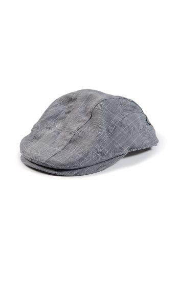 Caps - Glen Plaid Newsboy Cap, småtutet grå