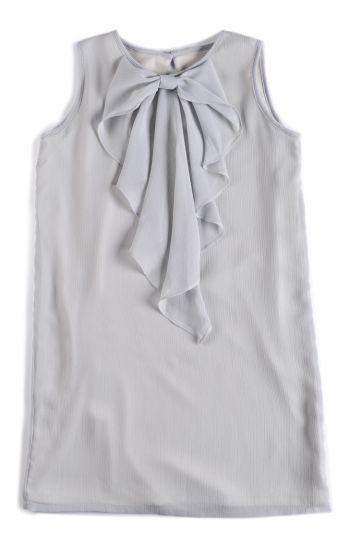 Kjole - Cascade Bow Dress Moonstruck, Lys grå