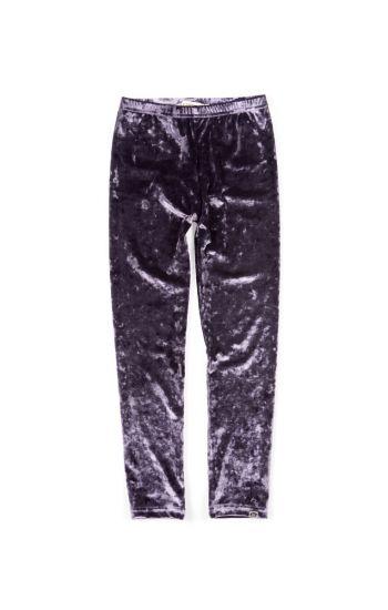 Leggings - Lavendel fløyelstights, Lilla