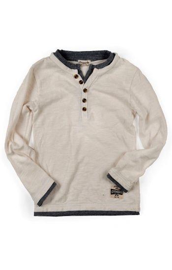 Langermet trøye - Camden shirt, hvit