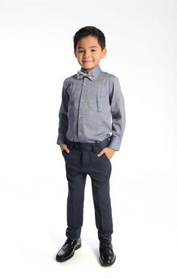 Penskjorte - Gråmønstret dresskjorte