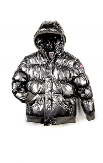 Dunjakke - Puffy Coat Pewter, sølvfarget