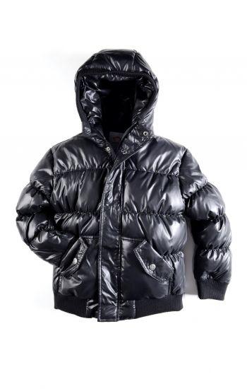 Dunjakke - Puffy Coat Shiny Black, svart