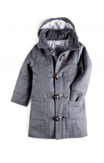 Duffelcoat - Toggle Coat, Koksgrå