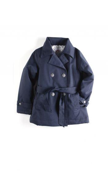 Trenchcoat - Short Trench Coat, Blue