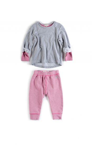 Mini sett -  Sweatshirt & Leggings, rosa