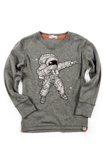 Langermet trøye - Space Dab, Grå