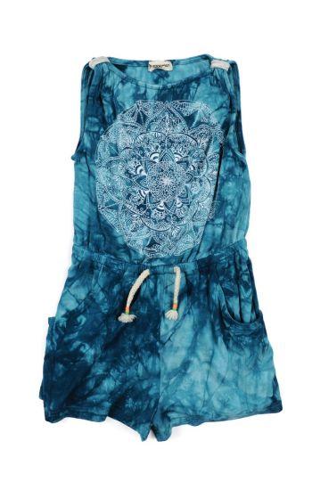 Buksekjole - Paros Turquoise Playsuit, Turkis blå