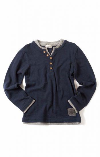 Langermet trøye - Camden Shirt, blå