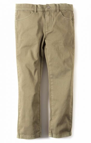 Bukse - Skinny Twill Pant, Oliven