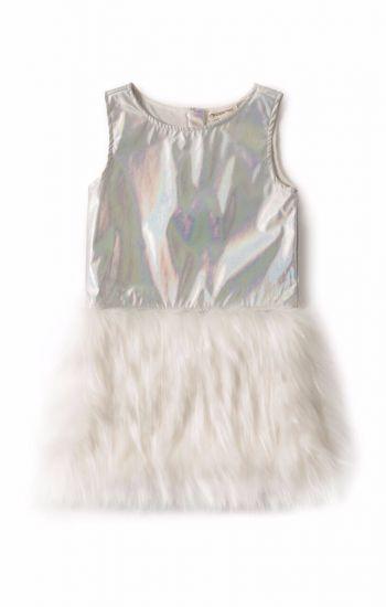 Kjole - Eve Design, sølvfarget