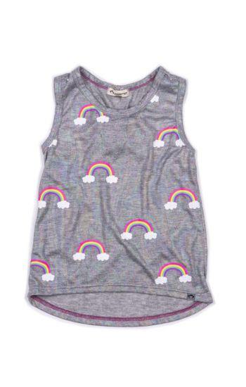 Topp - Ios Rainbow Singlet, Grå