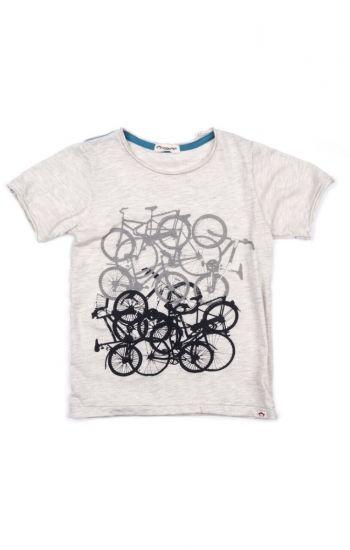 T-skjorte - Bike Jam, Lys grå