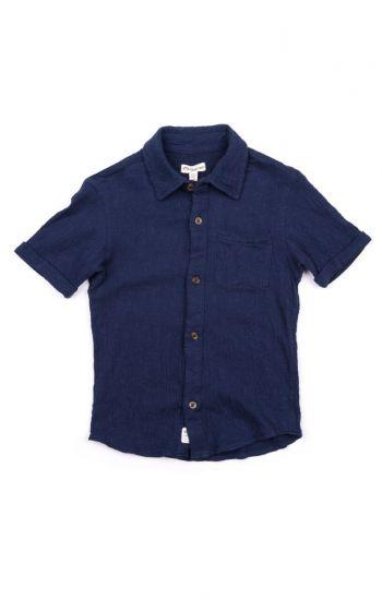Kortermet skjorte - Beach Shirt, mørkeblå