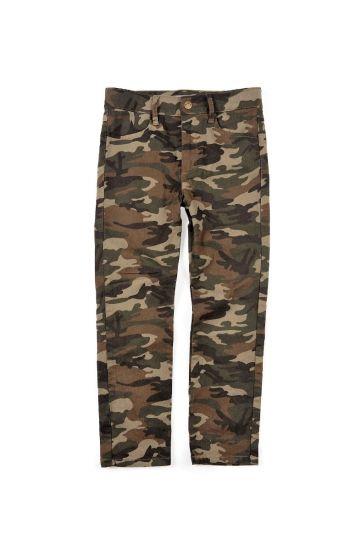 Bukse - Skinny Twill Pant, Kamuflasje