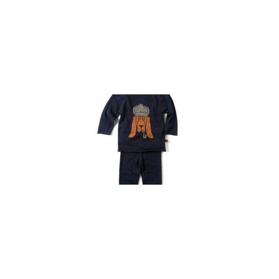Strikkesett - Bromley Mini, mørk blå