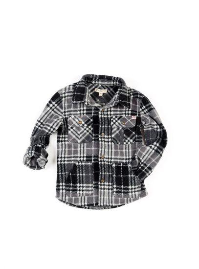 Fleece Shirt Snow, Grå rutet