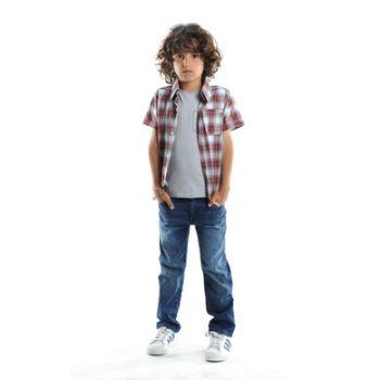 Kortermet skjorte - Tilden shirt, rød rutet
