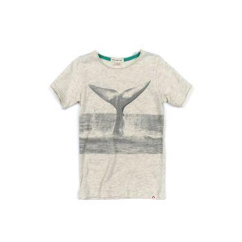 T-skjorte - Graphic Whale Tale, Lys grå