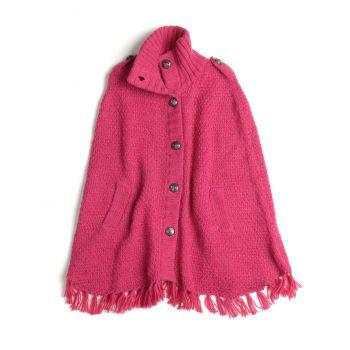Perlestrikket Poncho, Stiletto rosa