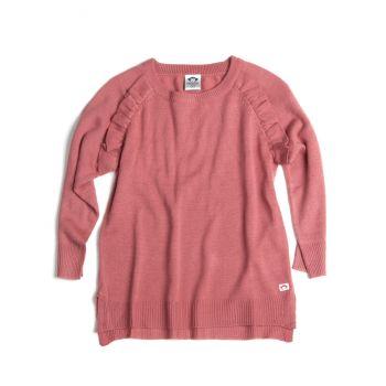 Genser Ruffle Sweater, Gammelrosa