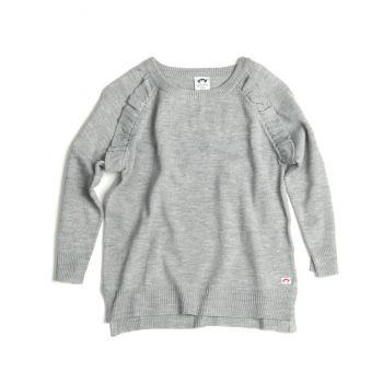 Genser - Ruffle Sweater, Grå