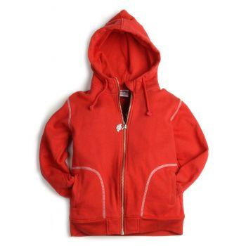 Hettejakke - Zip Up Hoodie, rød