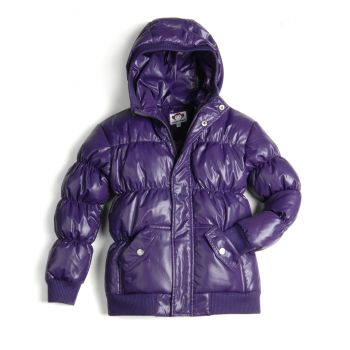 Dunjakke Mini - Puffy Coat Purple, Mørk lilla