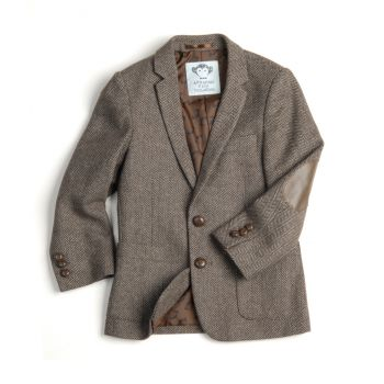 Tweedjakke - Mini professor, brun
