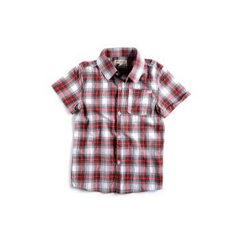 Kortermet skjorte - Tilden shirt, rødrutet