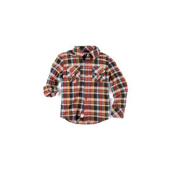 Flanellskjorte - Apple Plaid, Oransj rutet
