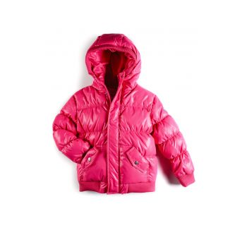 Dunjakke - Puffy Coat Hot Pink, rosa