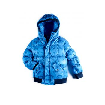 Dunjakke Mini - Puffy Coat  Monkey Logo, lys blå