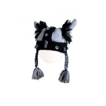 Mini lue - Viking Cap Grey, Grå & svart