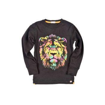 Langermet trøye - Graphic Lion, Svart