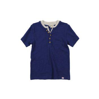 T-skjorte - Sub Henley Deep Cobalt, Blå