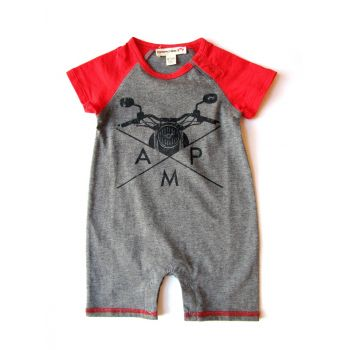 Body - Skater Raglan Mini, Grå & rød